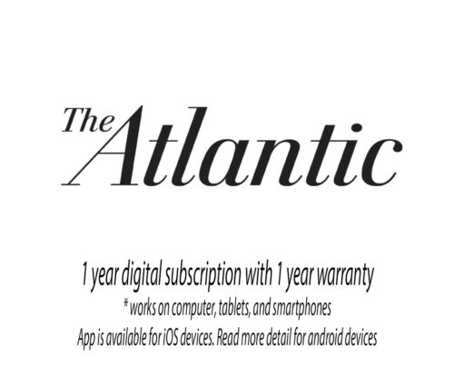 THE ATLANTIC 1 Year Digital Subscription With 1 Year Warranty