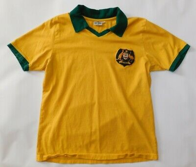 Vtg Retro 1970s AUSTRALIA NATIONAL TEAM RE-TAKE Soccer Football Home JERSEY XL image
