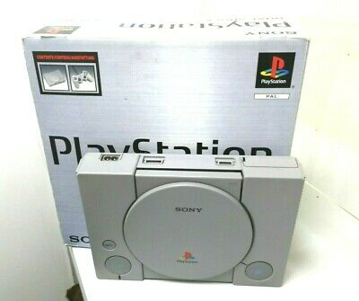 SONY PLAYSTATION PS1 SCPH-7002 Two Control Memories OddWorld Game Cables Boxed
