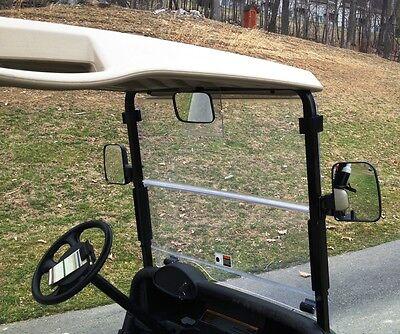 3PC XL Golf Cart Side and Rear View Mirror Set Univ for Club Car, EZ GO, Yamaha