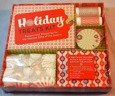 Holiday TREATS KIT Recipes & Wrappings for Holiday  NEW  Recipes Bags Tags  ()