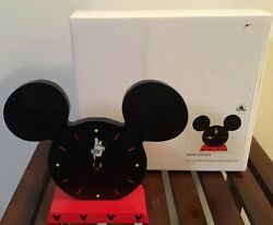 Walt Disney Mickey Mouse Iconic Table Clock NIB