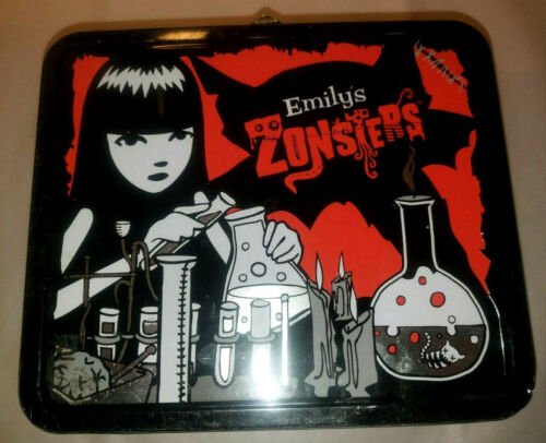 Emily the Strange ESP 2002 SUPER RARE Zonsters Metal Lunch Box Top Handle GUC!