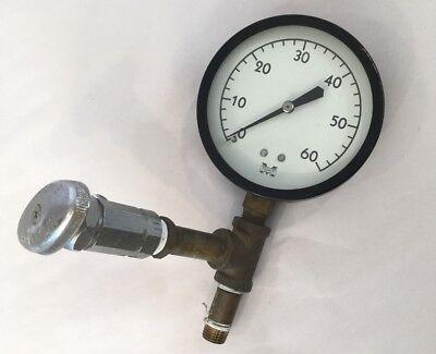 Marshalltown 60 Psi Pressure Gauge And Keystone Franklin Valve Steampunk