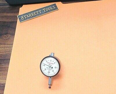 Starrett No.80-144j Miniature Dial Indicator W 0.001 Grad 0 - 0.100 Range.