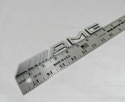 MERCEDES AMG EMBLEM S C CL E SLK ML CLS CLK C CLASS REAR CHROME BADGE sign logo