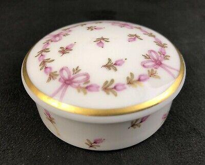 Vintage Porcelain Case Lid Jar Cobalt Blue Trinket Box marked Jlmenau Made in Germany