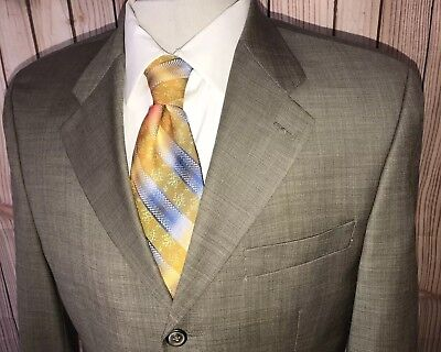 Mens Ralph Lauren Blazer Sport Coat Jacket Tan Brown Sz 38R Wool Cashmere