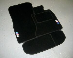 BMW 5 Series E60/E61 (2003-2010) Car Mats in Black + M Sport Logos (x2)