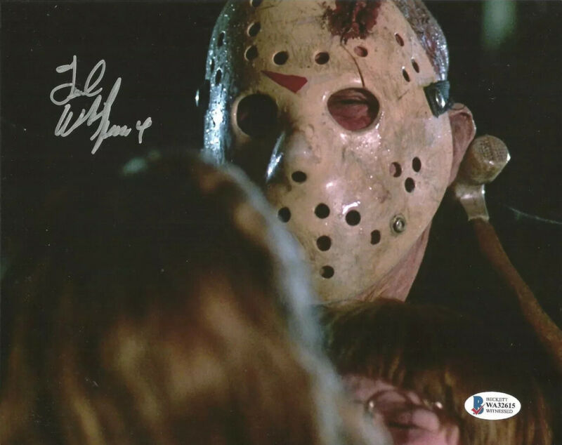 TED WHITE signed 8x10 Photo FRIDAY the 13th Part IV 4 Jason Voorhees Beckett