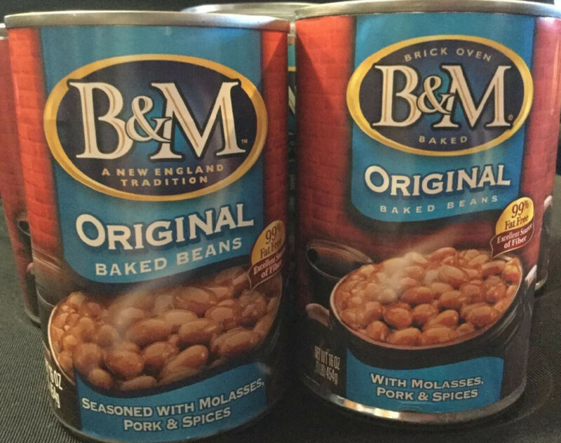 B&M Baked Beans Original Flavor 16 Ounce Cans Case of 12