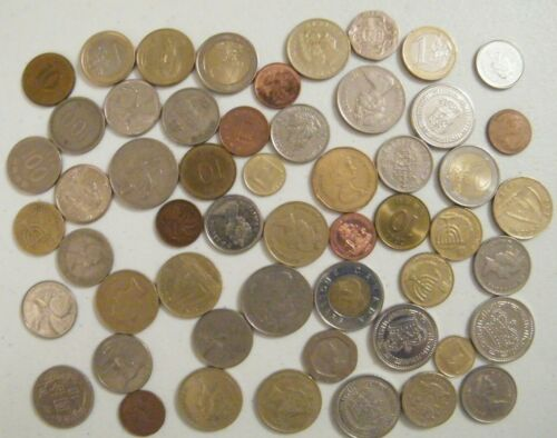 Large Lot World Coin Junk Drawer Estate selling Circulated Foreign lot Set B