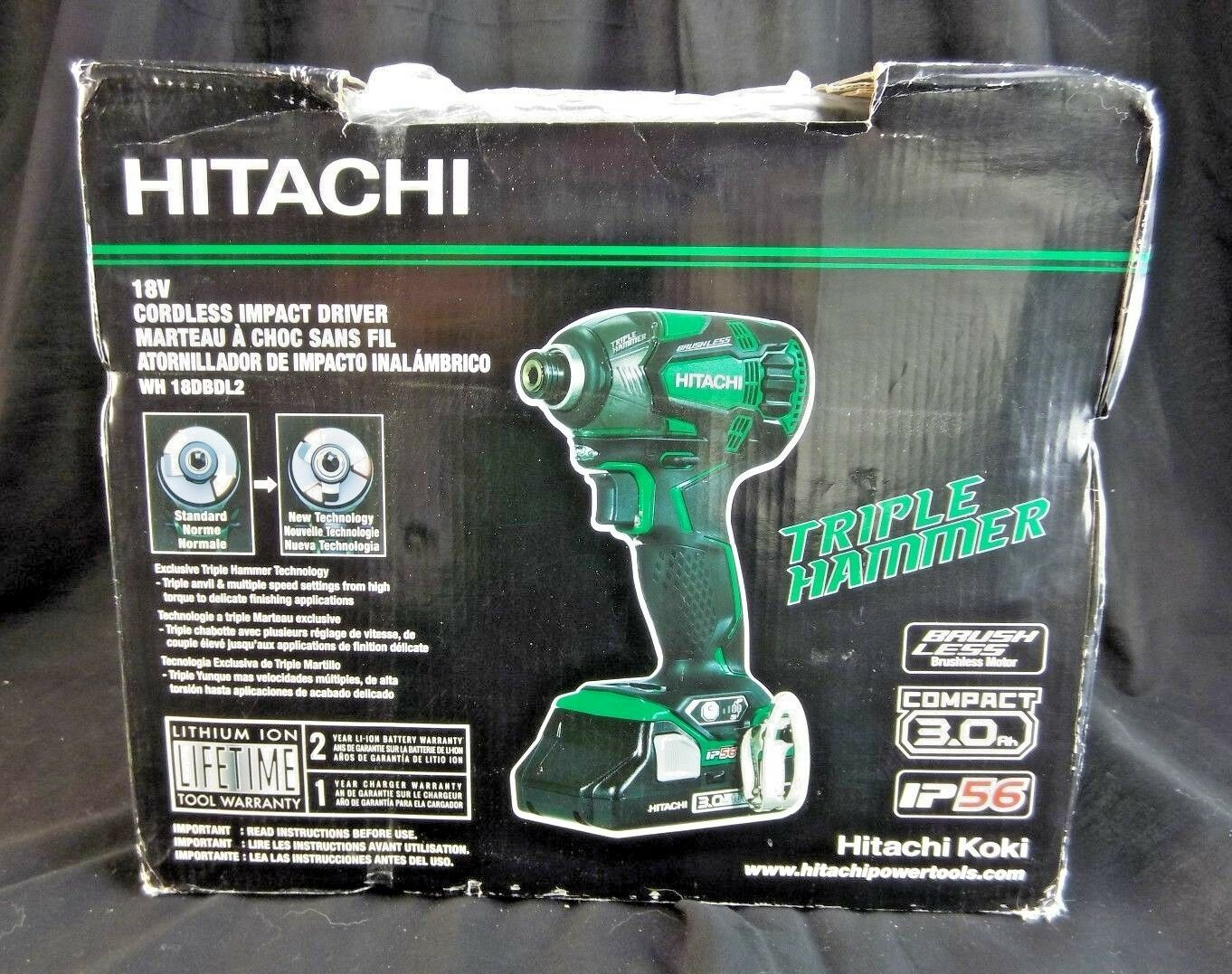 Hitachi WH18DBDL2 18V 3.0 Ah Cordless Lithium-Ion Brushless