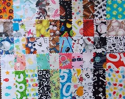 Premium Cotton Quilt (I Spy 50 Piece Charm Pack 5