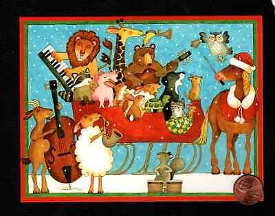 CASPARI Christmas Lion Giraffe Owl Cat Dog Rabbit Pig Owl Horse - Greeting Card
