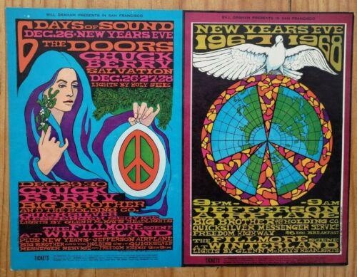 Doors Chuck Berry Quicksilver Airplane 1967 WINTERLAND HANDBILL Bonne MacLean