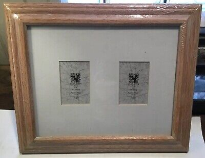 Double Photo Frame (Natural Wood Double Matted Frame Photo 8x10)