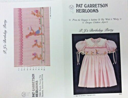 PAT GARRETSON HEIRLOOM SMOCKING PLATE #005- P.J.