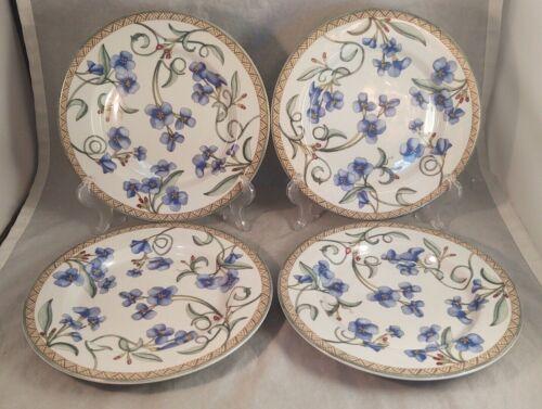 Set of 4 Dansk Umbrian Flowers Salad Plates