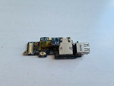 dell latitude d630 laptop usb port board / carte usb cable original ethernet usb