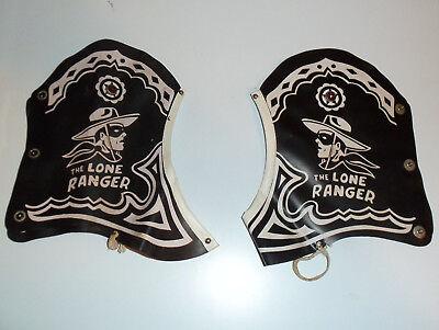 1950s Lone Ranger spats western cowboy black vinyl costume pair kids shoe covers - Lone Ranger Costume Western Cowboy Costumes