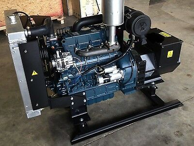 21kw Single Phase 120/240 continuous home Kubota Diesel Generator Set NEW Engine