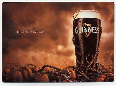 Guinness Beer -  Halloween Ad -  Large METAL Fridge Magnet  - Ireland - Guinness Halloween