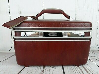 Vintage Samsonite Silhouette Train Case Hard Cover Cosmetic Luggage Suitcase