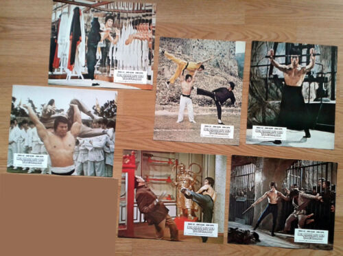 ENTER THE DRAGON 6 German lobby cards first release! BRUCE LEE Martial Arts 1973