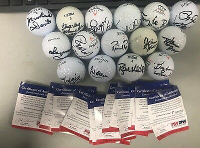 LOT (15) Signed Non - Golfers Golf Balls w/ Karn Johnson Alexander PSA/DNA COA