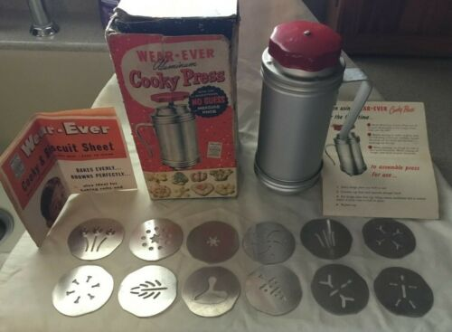 Mid Century Wear Ever Aluminum Cooky Press Cookie Press in Box