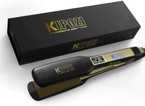 KIPOZI Flat Iron 1.75 Inch Titanium Plates Pro Hair Straight