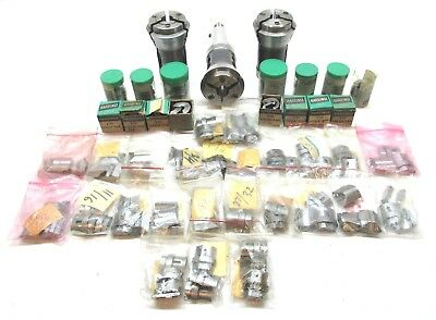 3 Hardinge 2d-s10 Master Collets W 40 Assorted S10 Collet Pad Sets