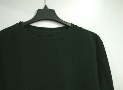 LACOSTE Men's Size 8 3XL Crew Neck Cotton Pullover Sweater Black XXXL Alligator
