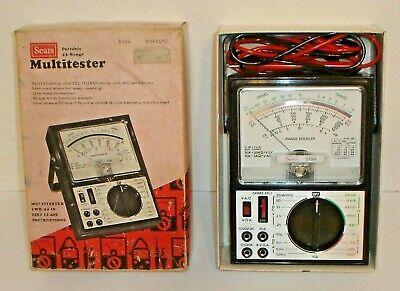 Vintage Sears 5190 Portable 43-range Multimeter Multitester W Probes Box Mint