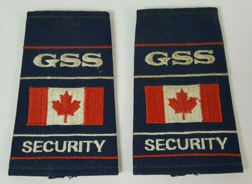 GSS CANADA SECURITY SHIRT DEFUNCT PATCHES VINTAGE RETRO UNIFORM WEAR CANADIAN