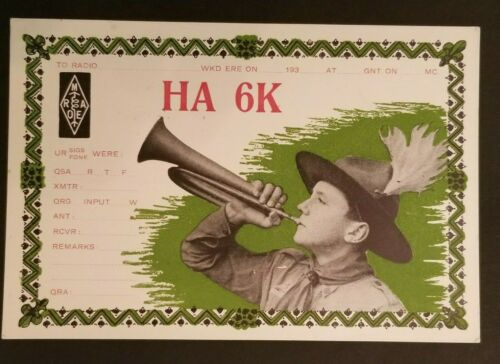 Mint Vintage Hungary Boy Scouts Illustrated Postcard