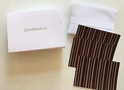 Designer Zimmermann 10 Note Cards &  Envelopes Stationery With Gold -