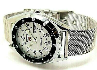 seiko 5 automatic men's steel railway time day/date vintage japan 6309 watch r
