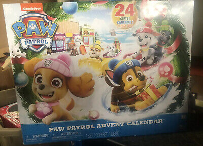 New Paw Patrol Advent Calendar with 24 Collectible Plastic Figures