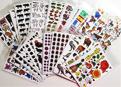 Hologramm Sticker Stickerbögen, 1 Bogen oder im 2er Set Fische Auto Tiere usw.