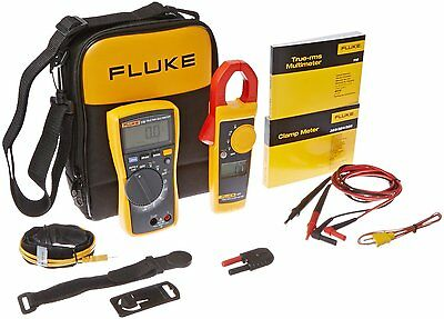 Fluke 116323 Kit Hvac - Multimeter Clamp Meter Case Tpak Leads Probes