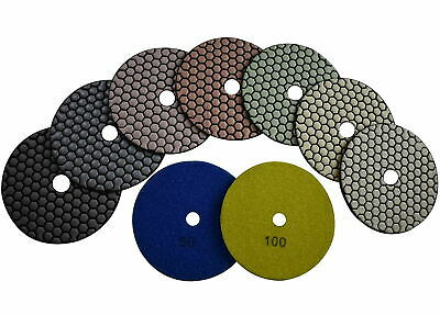 4 Diamond Dry Polishing Sanding Pad 150 Pieces Granite Concrete Marble Ceramic