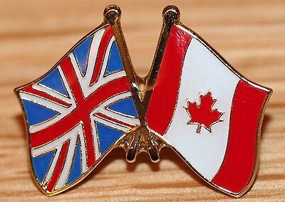 UK & CANADA FRIENDSHIP Flag Metal Lapel Pin Badge Great Britain