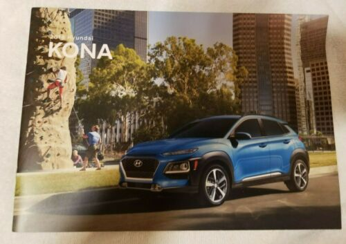 2018 Hyundai Kona Sales Brochure (OEM)  Introductory Year