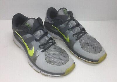 Nike Free Trainer 5.0 Training Shoes Gray Yellow 511018-070 Mens Size 12 M