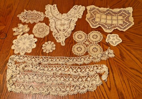 Antique Doilies Trim Crochet Lot ~ Arts & Crafts