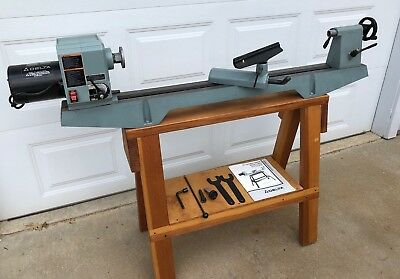 Delta Wood Lathe 12 Variable Speed 46-700 With Custom Wood Stand