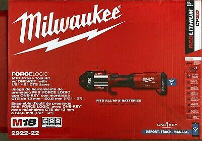 Milwaukee 2922-22 M18 Force Logic Press Tool W One Key 12-2 Jaws New In Case