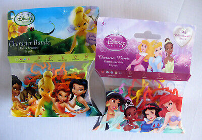 Disney Tinkerbell Fairies & Disney Princess Characters Elastic Silly Bands](Female Disney Characters)